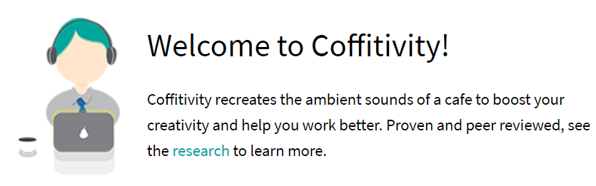 Productivity tools Coffitivity