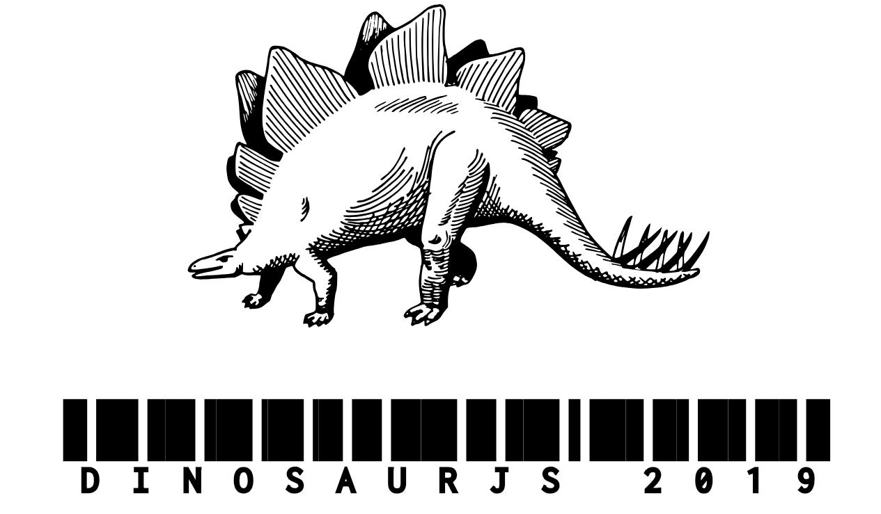 2019 JavaScript Conferences Dinosaur JS Logo