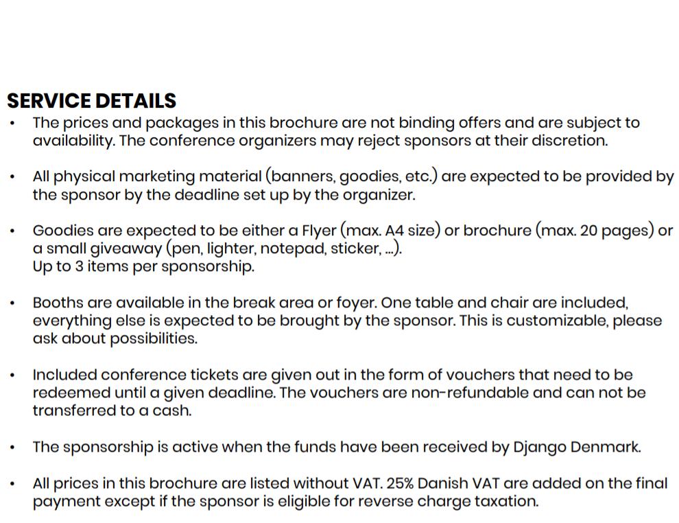 Django Con EU Service Details