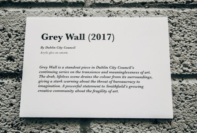 Grey wall plack