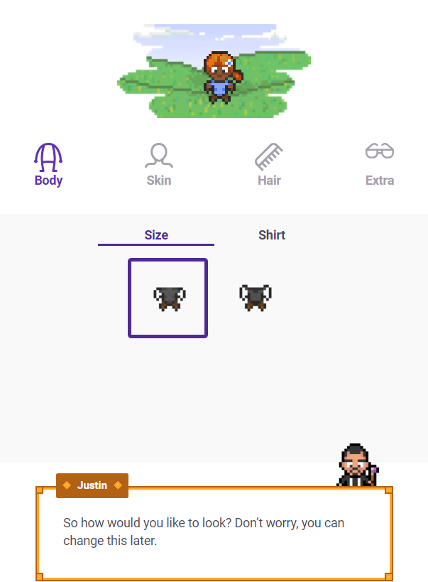 Productivity tools Habitica Character set up