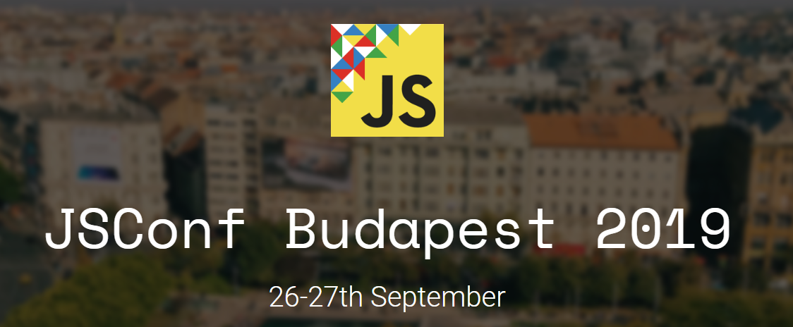 2019 JavaScript Conferences JsConf Budapest Banner