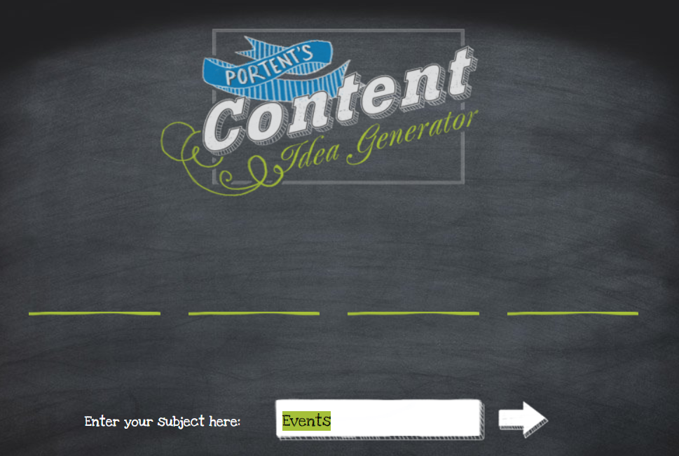 Productivity tools Portent Content Idea Generator