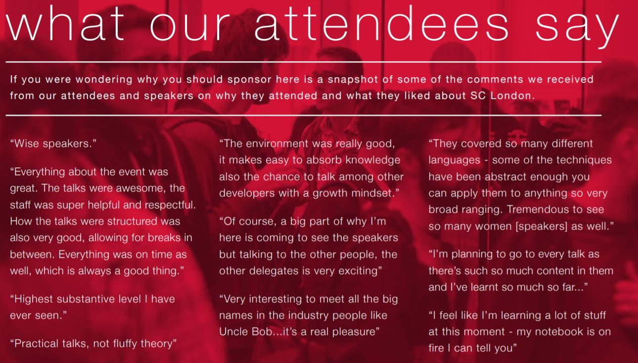 SC London attendee testimonials