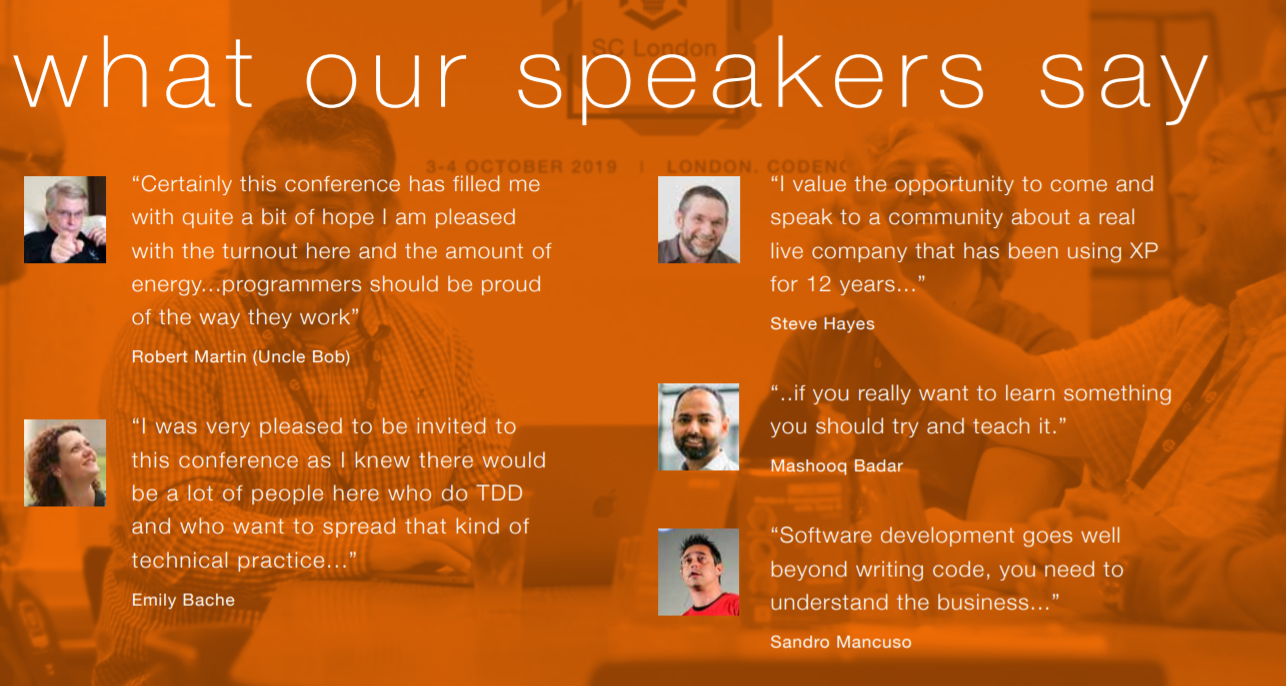 SC London speaker testimonials