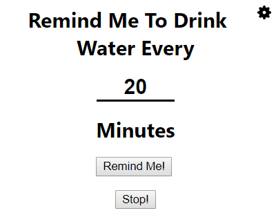 Productivity tools Water Reminder for Chrome