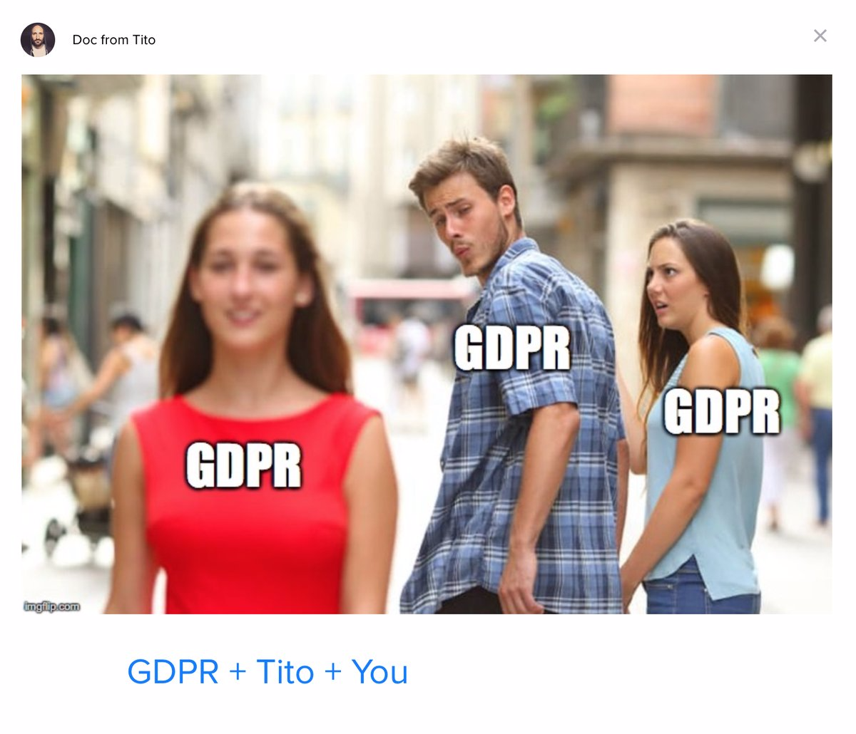 gdpr meme tito intercom
