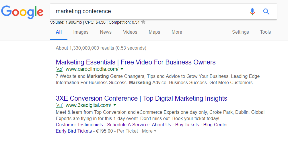 Competitive analysis framework marketing conference ppc