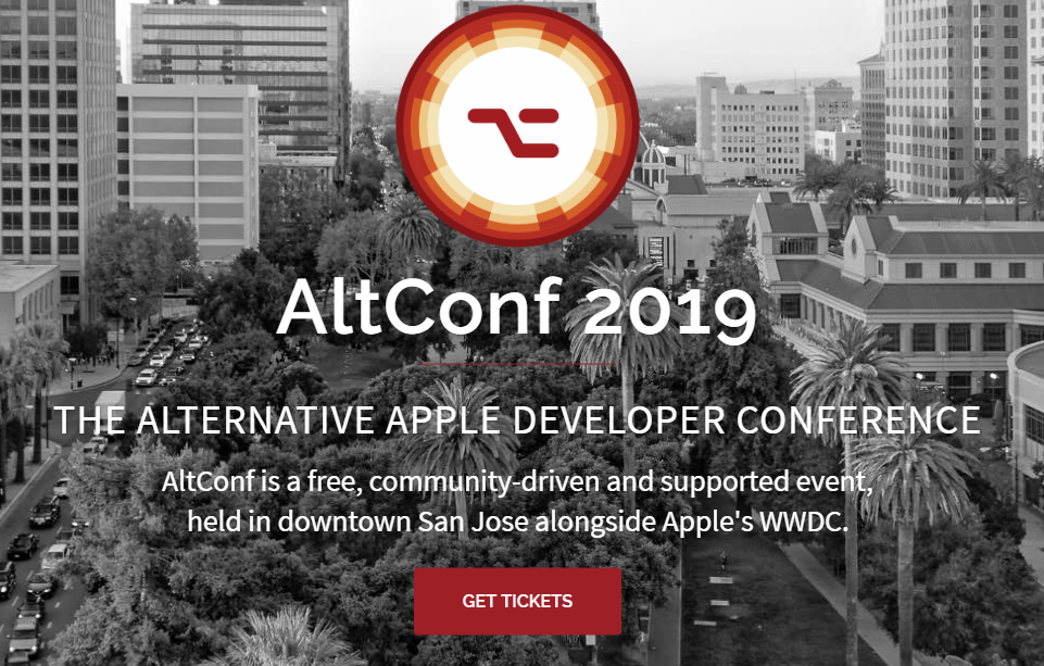 AltConf 2019 Homepage WWDC Satellite Event