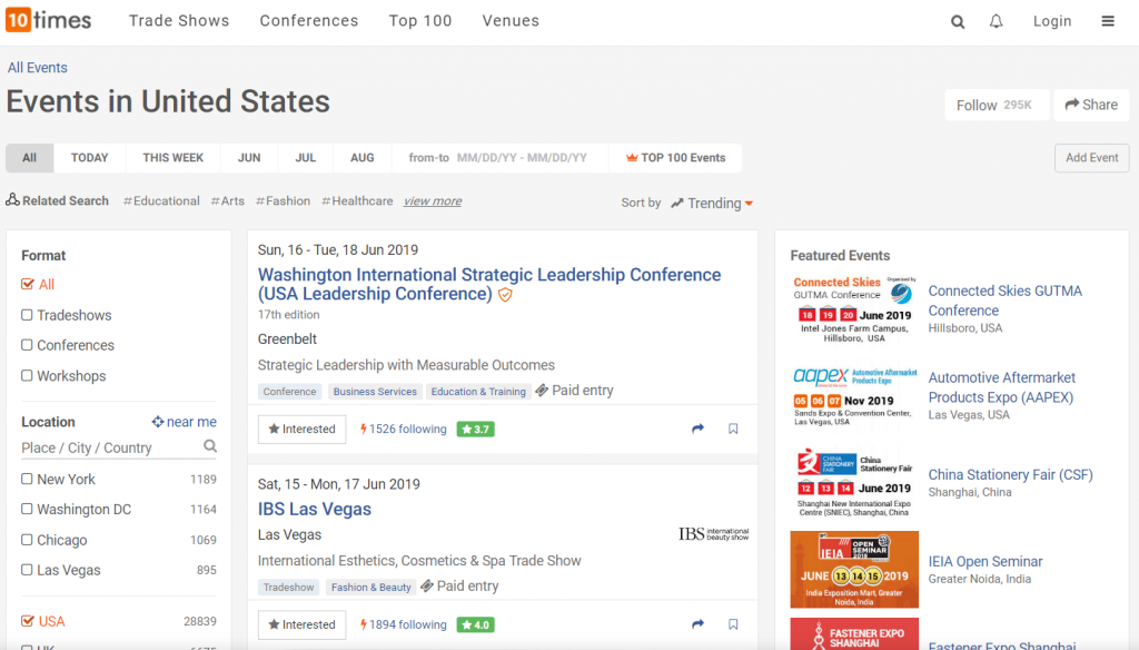Event Listing Sites conferences
