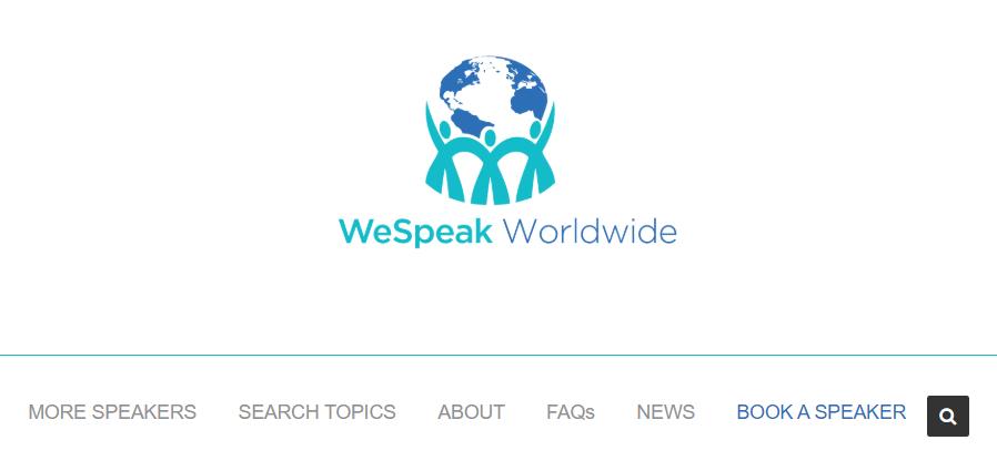 Conference guest speaker website WeSpeak Worldwide