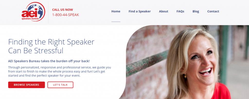 AEI Speakers Conference keynote speakers website