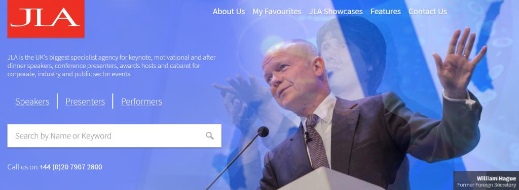 Conference guest speaker bureau JLA website.