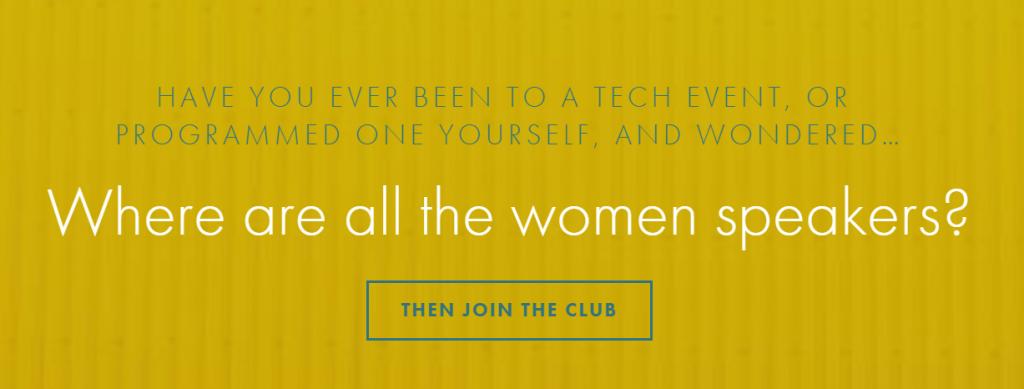 Conference speakers website Women Talk Tech.