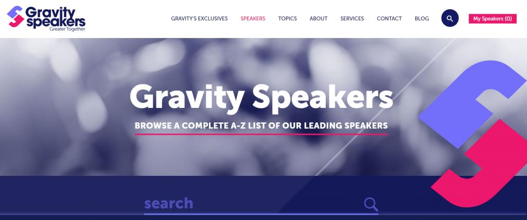 Conference keynote speakers Gravity Speakers.