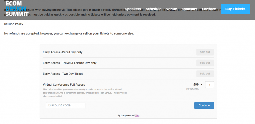 Ecom Design Summit virtual event pricing